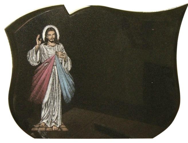 wizerunek na tablicach napisowych - jezus